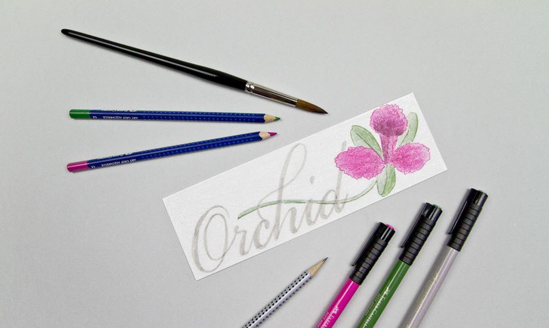 malvorlagen für mohnblumen und orchideenfabercastell