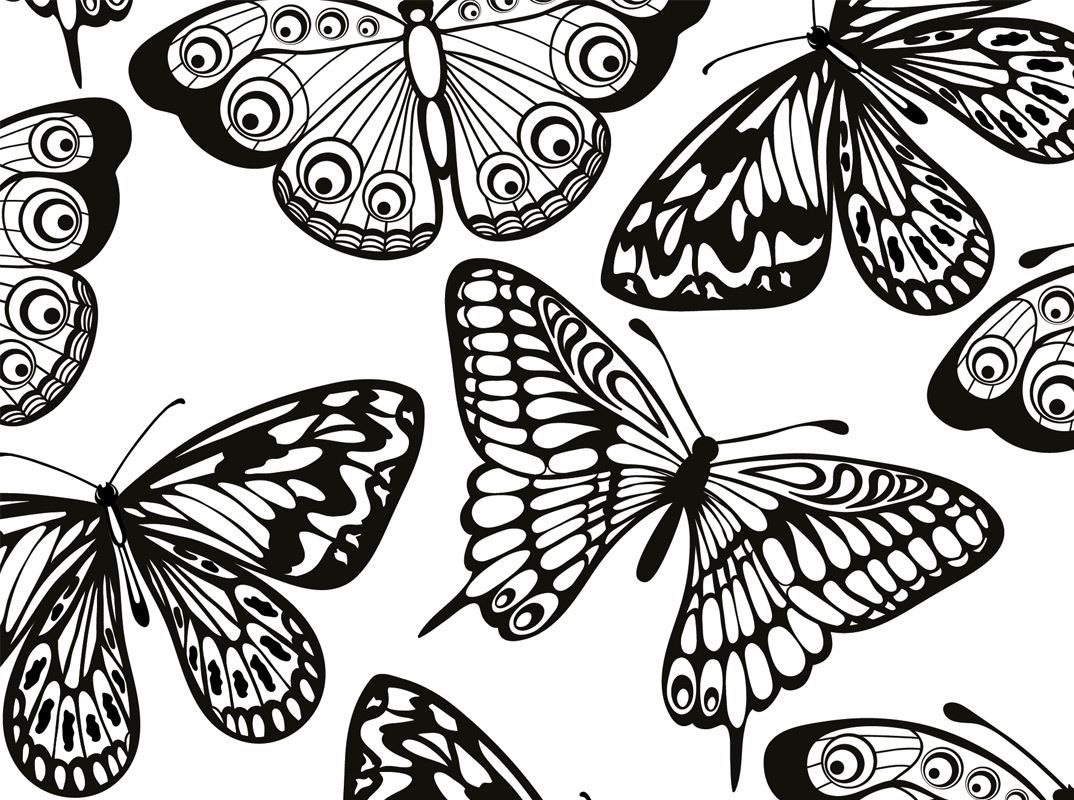 Ausmalbilder Mandala Schmetterling : Malvorlagen Tiermotive