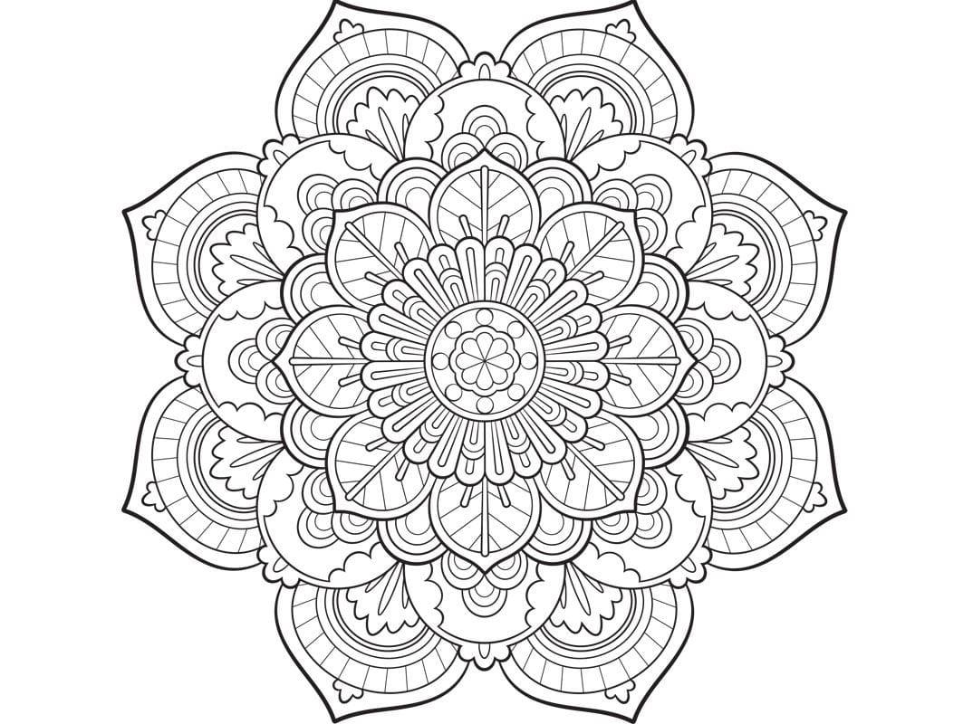 Malvorlagen: Mandala