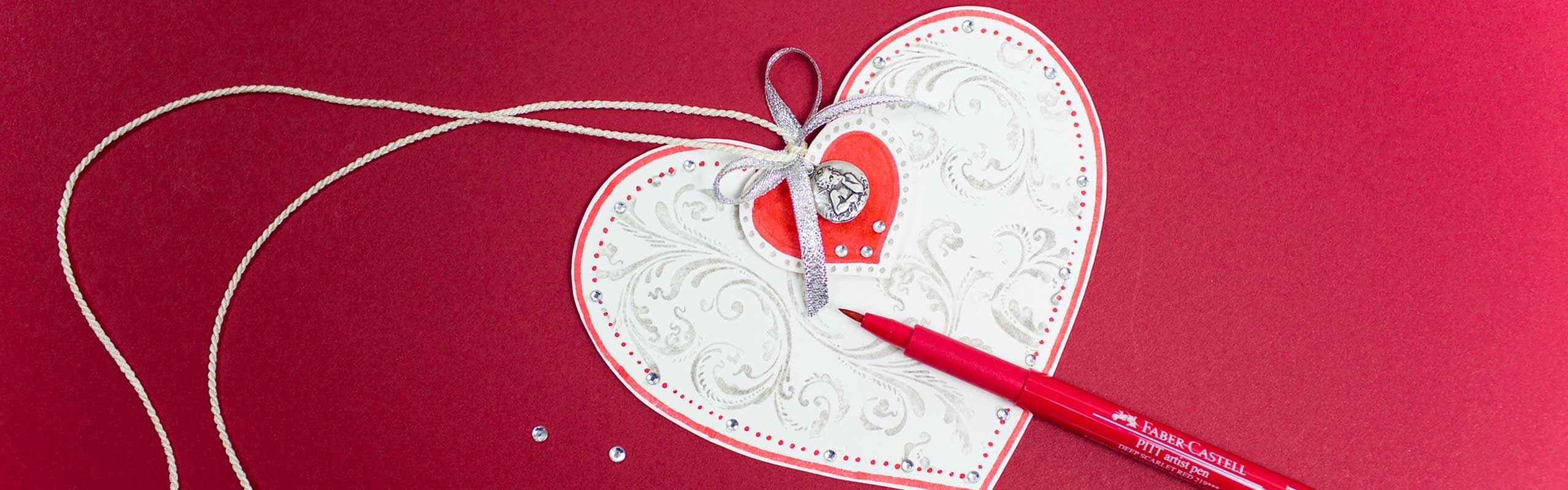 So basteln Sie Karten für den Valentinstag