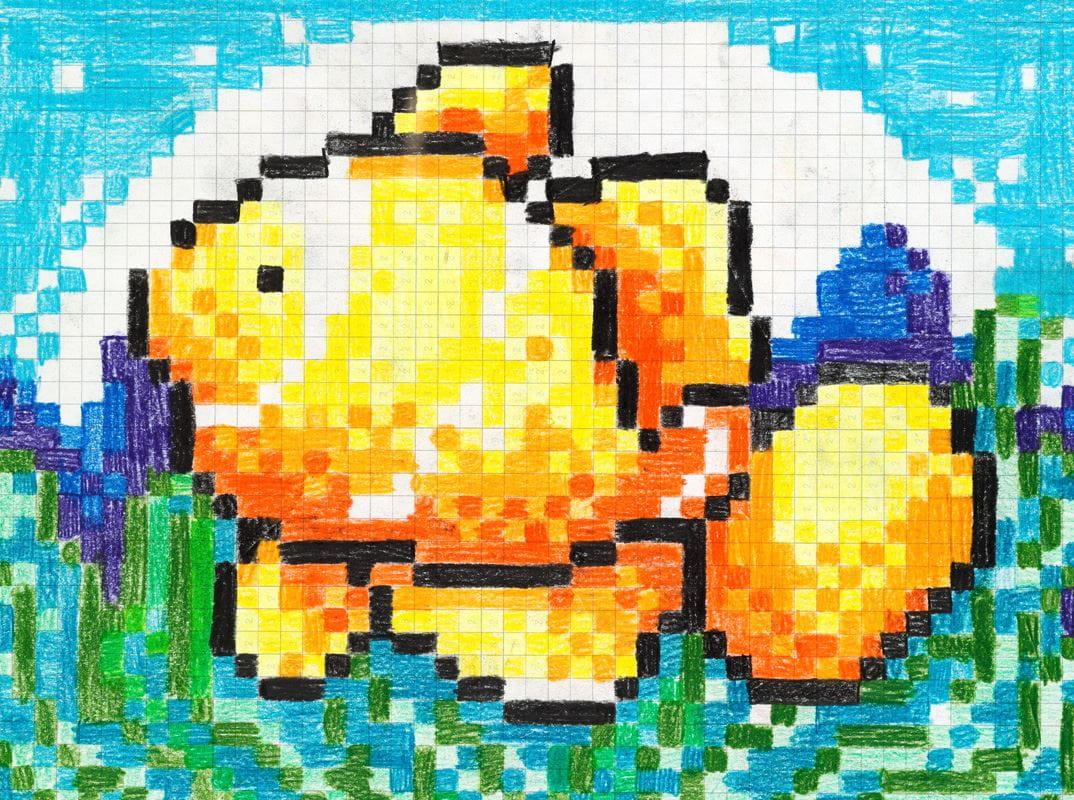 vorlagen pixel bilder zum nachmalen einfach