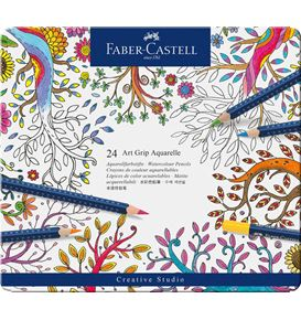 Faber-Castell - Aquarellstift Art Grip Aquarelle 24er Etui