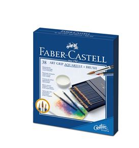 Faber-Castell - Aquarellstift Art Grip Aquarelle 38er Atelierbox