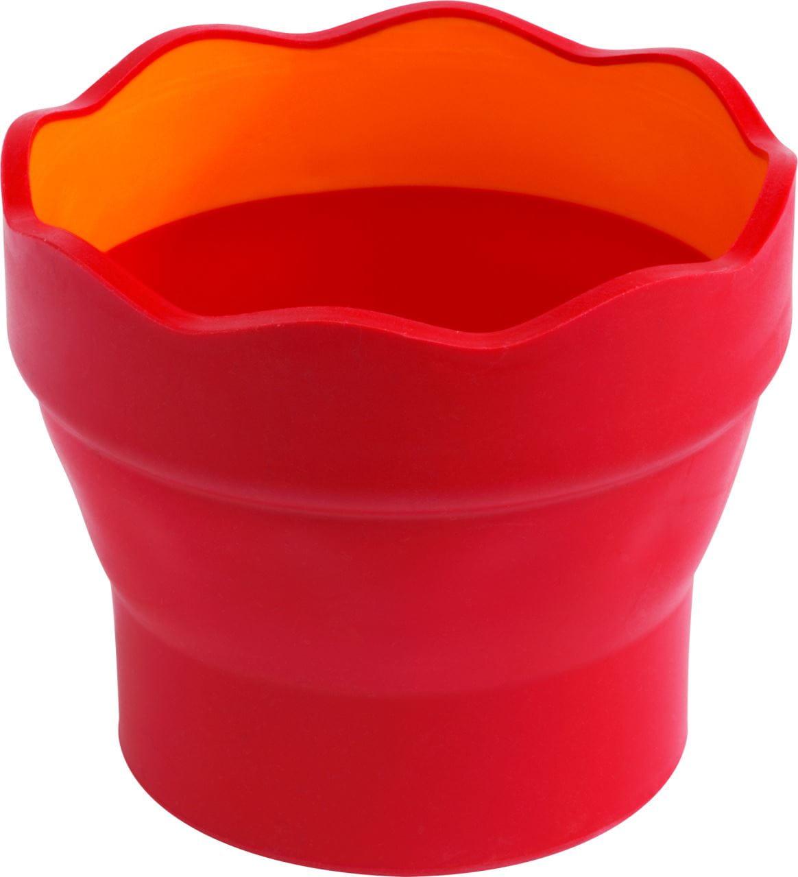 181517 Faber-Castell Wasserbecher CLIC/&GO rot Wasserfarben Becher