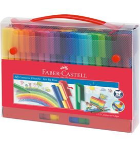 Faber-Castell - Connector Filzstift- Set Koffer, 72-teilig