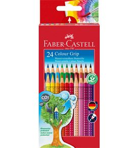 Faber-Castell - Colour Grip Buntstift, 24er Kartonetui