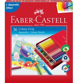 Faber-Castell - Crayon de couleur Colour Grip studio box de 36