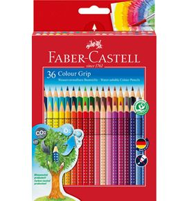 Faber-Castell - Colour Grip Buntstift, 36er Kartonetui