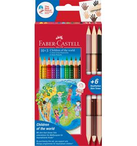 Faber-Castell - Coulour Grip Enfants du Monde 10+3