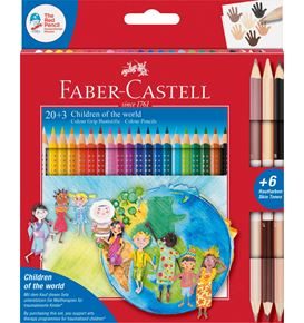 Faber-Castell - Colour Grip Children of the world Buntstift dreikant 20+3