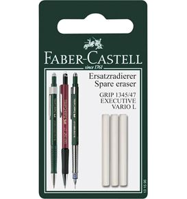 Faber-Castell - 3 Spare eraser for Mechanical pencil Grip 1345/1347