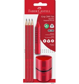 Faber-Castell - Grip 2001 set rouge blister