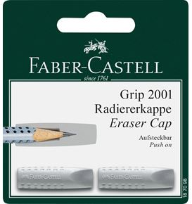Faber-Castell - Blister 2 gommes capuchon Grip 2001