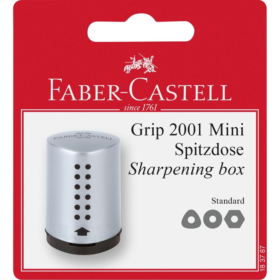 Faber-Castell - Taille-crayon Grip 2001 mini gris Bl