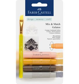 Faber-Castell - Aquarellkreiden Gelatos neutral 6tlg. Set