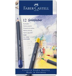 Faber-Castell - Farbstift Goldfaber 12er Metalletui