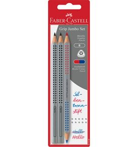 Faber-Castell - Bl Crayons graphite Jumbo Grip+Bicolore