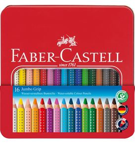Faber-Castell - Buntstift Jumbo Grip 16er Metalletui