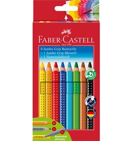 Faber-Castell - Buntstift Jumbo Grip Promotionetui 8+1+1