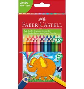 Faber-Castell - Crayon couleur triangul. Jumbo 24x 5.4mm