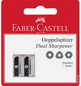 Faber-Castell - BLISTER TAILLE-CR. METAL 2 USAGES