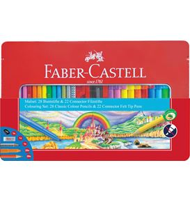Faber-Castell - Combi set crayons feutres Connector