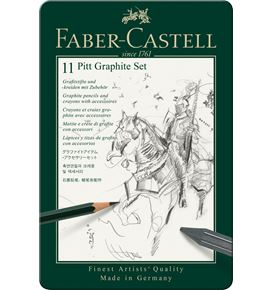 Faber-Castell - Pitt Graphite set, 11er Metalletui