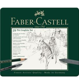 Faber-Castell - Pitt Graphite set, 19er Metalletui