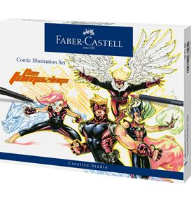Faber-Castell - Comic Illustration Set, 15-teilig