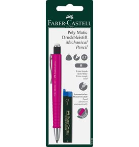 Faber-Castell - Poly Matic Druckbleistiftset, 0.7 mm, 2-teilig