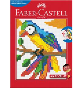 Faber-Castell - Ausmalheft Pixel-it  mit 32 Motiven