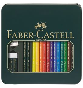 Faber-Castell - Metalletui Mixed Media Polychromos & Castell 9000