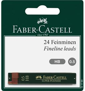 Faber-Castell - Blister 2 etuis 12 mines 0,5 HB