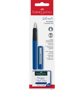Faber-Castell - School+ fountain pen, blue on blister card