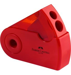 Faber-Castell - Taille-crayon 2 usages Sleeve rouge/bleu